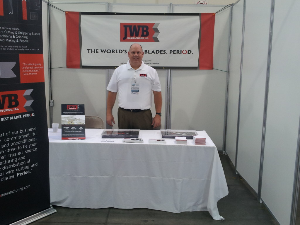 CEO JEff Barth hosts JWB Manufacturing's Booth at the 2013 Nogales Supplier Expo.